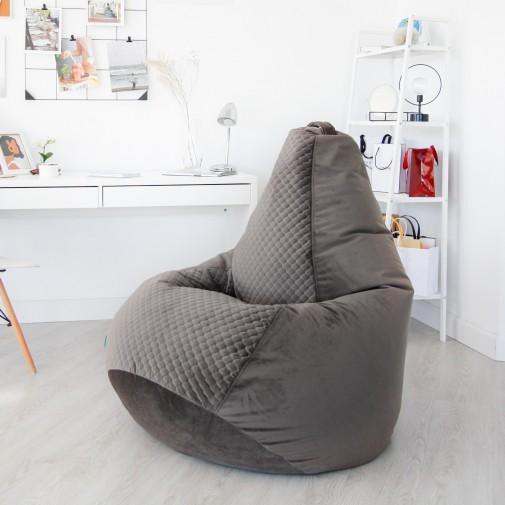 Кресло груша ZIZI премиум велюр XXXL Графит