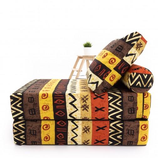Бескаркасный диванчик-раскладушка Африка