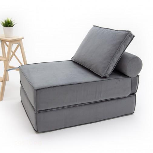 Бескаркасный диванчик-раскладушка Баланс Грей