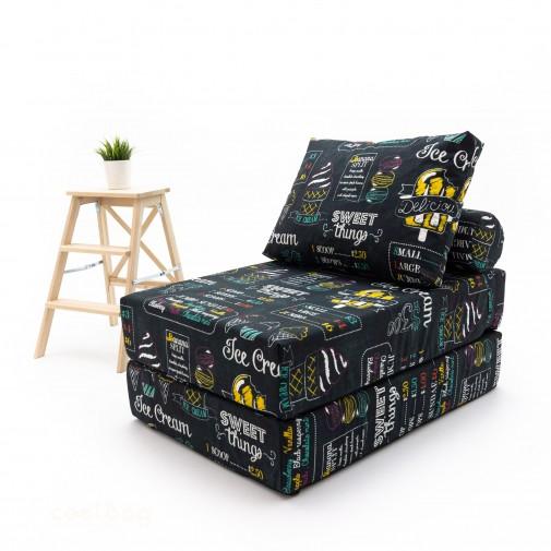 Бескаркасный диванчик-раскладушка Айскрим