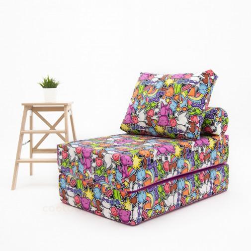 Бескаркасный диванчик-раскладушка Маскарад