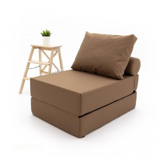 Бескаркасный диванчик-раскладушка Neo Brown