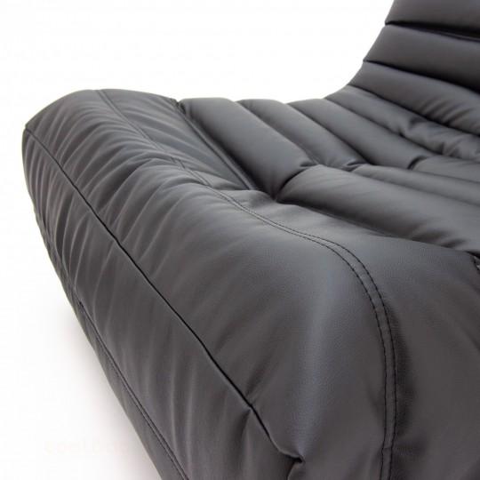 Кресло Француз Экокожа черная