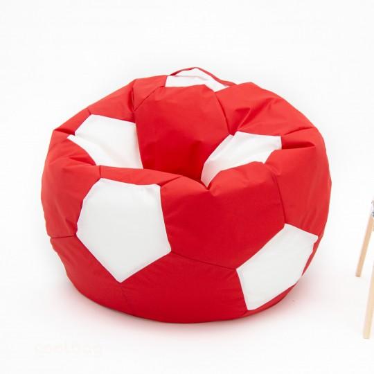 Кресло мяч красно-белый