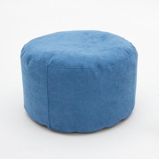 Пуфик круглый Лаунж голубой